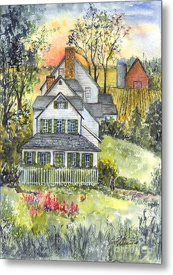 Springtime Down On The Farm Metal Print by Carol Wisniewski