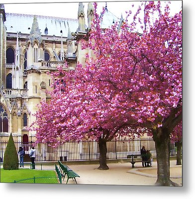 Springtime In Paris Metal Print