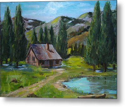Springtime In The High Country Metal Print by Judi Pence