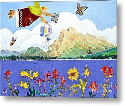 Springtime In The Rockies Metal Print by Virginia Ann Hemingson