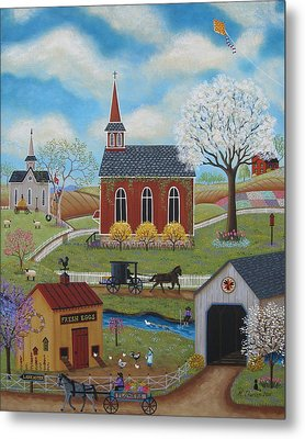 Springtime Metal Print by Mary Charles