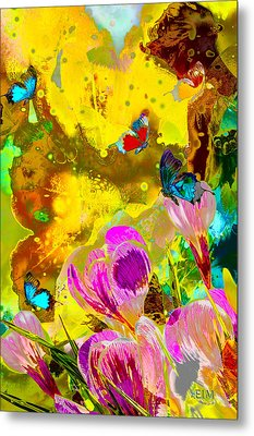 Springtime Splash Metal Print by Mayhem Mediums