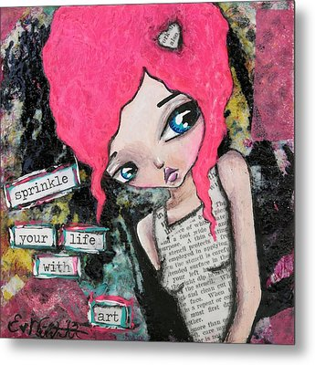 Sprinkle With Art Metal Print by Lizzy Love of Oddball Art Co