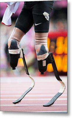 Sprinter At Start Of Paralympics 100m Metal Print by Science Photo Library