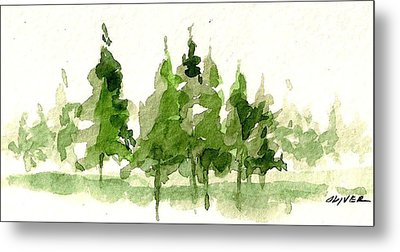 Metal Print featuring the mixed media Spruce Grove by Tim Oliver