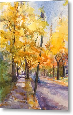 Spruce Street Maples #2 Metal Print by Nancy Watson