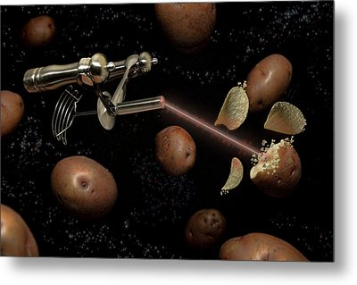 Spuds The Final Frontier Metal Print by Randy Turnbow