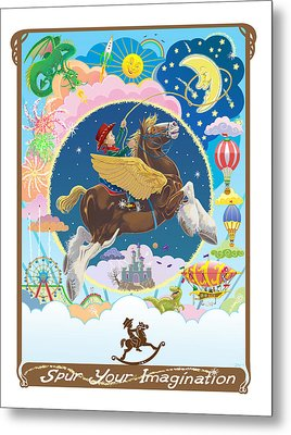 Spur Your Imagination Metal Print by J L Meadows