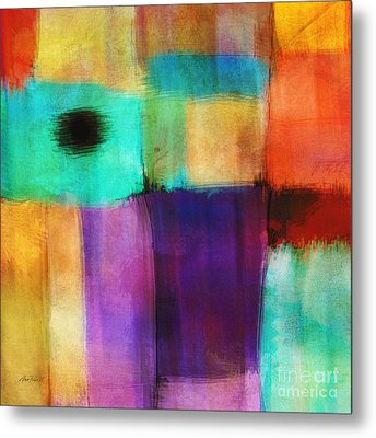 Square Abstract Study Three  Metal Print by Ann Powell