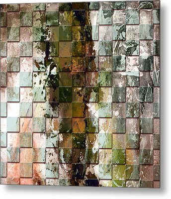 Square Mania - Abstract 09 Metal Print by Emerico Imre Toth