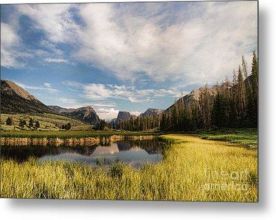 Square To At Green River Metal Print by Edward R Wisell