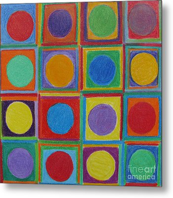 Squares And Circles Metal Print by Patricia Januszkiewicz