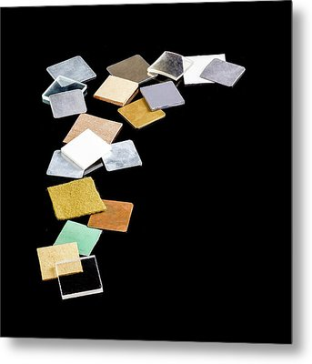Squares Of Everyday Materials Metal Print by Science Photo Library