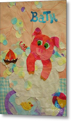 Metal Print featuring the mixed media Squeaky Clean by Diane Miller