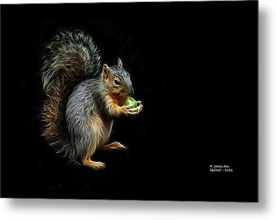 Squirrel - 8331 - F Metal Print by James Ahn