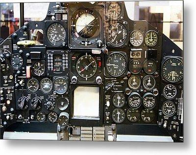 Sr-71 Blackbird Control Panel. Metal Print by Mark Williamson