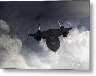 Sr-71 Blackbird Metal Print by J Biggadike