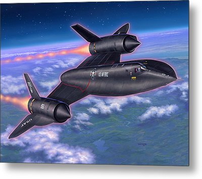 Sr-71 Blackbird Metal Print by Stu Shepherd