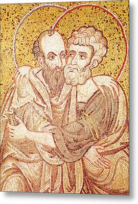 Saints Peter And Paul Embracing Metal Print
