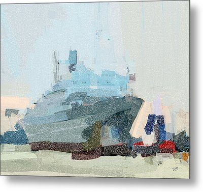 Metal Print featuring the painting Ss Rotterdam by Nop Briex