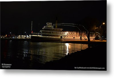 Metal Print featuring the photograph Ss Sicamous - Night Shot by Guy Hoffman