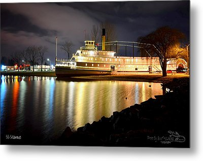 Ss Sicamous Steam Ship 1/21/2014  Metal Print