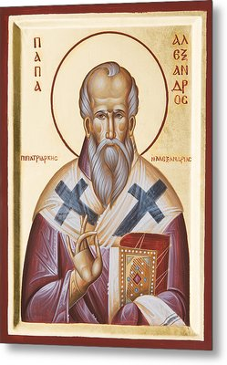 St Alexander Of Alexandria Metal Print by Julia Bridget Hayes