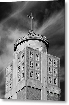 St. Ambrose University Christ The King Chapel Metal Print by University Icons