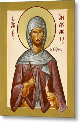 St Anastasios The Persian Metal Print