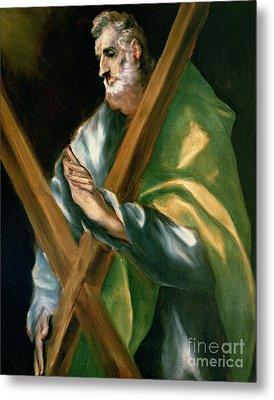 St Andrew Metal Print by El Greco Domenico Theotocopuli