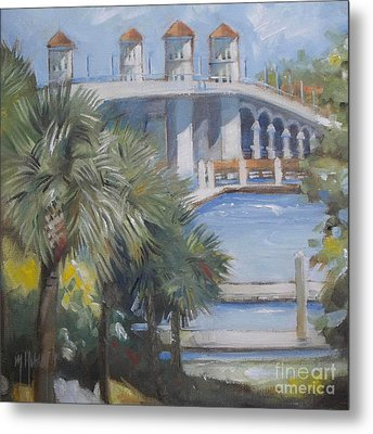 St Augustine Bridge Of Lions Metal Print