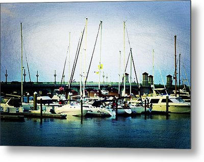 St. Augustine Sailboats Metal Print by Laurie Perry