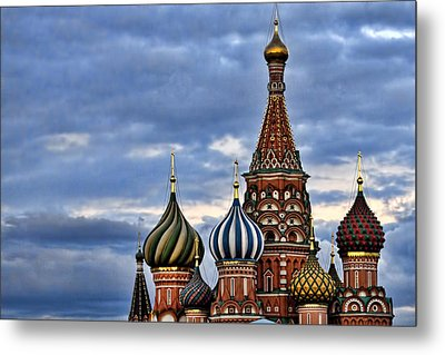 St Basils Cathedral - Moscow Russia Metal Print by Jon Berghoff