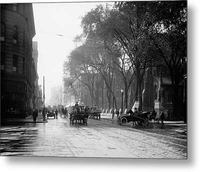 St Catherine Street - Montreal 1910 Metal Print by Mountain Dreams