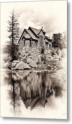 St. Catherine's Chapel Metal Print by Tyson and Kathy Smith