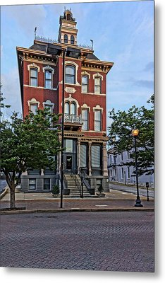St. Charles Odd Fellows Hall Built In 1878 Dsc00810  Metal Print by Greg Kluempers