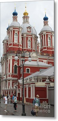 St Clement's Church In Moscow Metal Print by Anna Yurasovsky