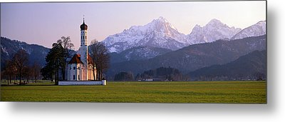 St Coloman Church And Alps Schwangau Metal Print