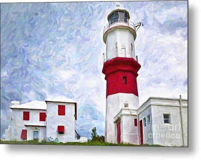 Metal Print featuring the photograph St. David's Lighthouse by Verena Matthew