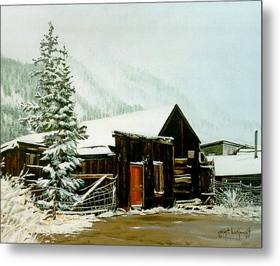 Metal Print featuring the painting St Elmo Snow by Craig T Burgwardt
