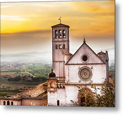 St Francis Of Assisi Church At Sunrise  Metal Print by Susan Schmitz