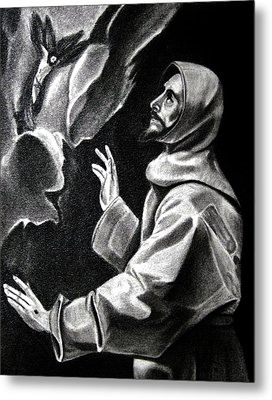 St Francis Of Assisi Metal Print by Enrique Garcia