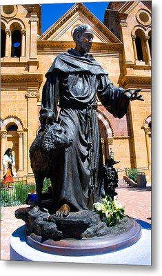 St Francis Of Assisi - Santa Fe Metal Print by Dany Lison