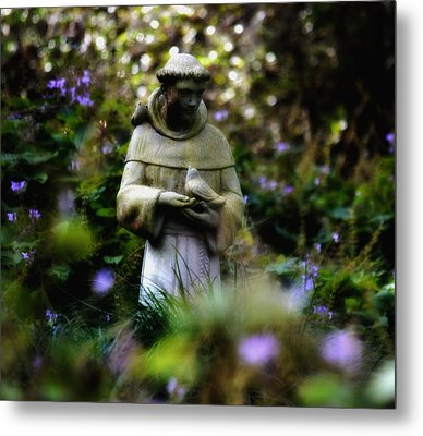 St. Francis Of Assisi Metal Print by Tara Miller