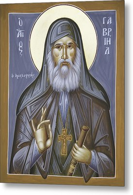 St Gabriel The Confessor Of Georgia Metal Print by Julia Bridget Hayes