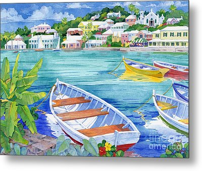 St George Harbor Metal Print by Paul Brent