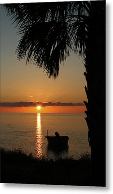 St. George Island Sunset Metal Print by Lynn Jordan