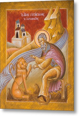 St Gerasimos Of The Jordan Metal Print by Julia Bridget Hayes
