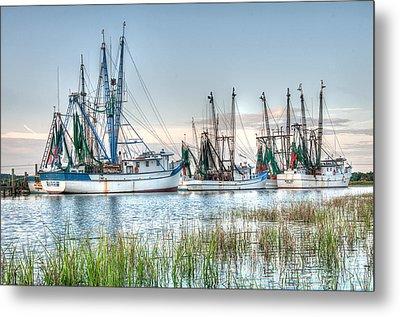 St. Helena Island Shrimp Boats Metal Print by Scott Hansen