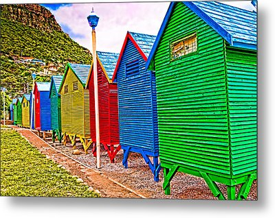St James Beach Houses From Behind Metal Print by Cliff C Morris Jr